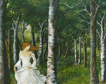 Diana 11x14 Fine Art Print Pagan Mythology Forest Goddess Art