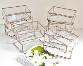 """Satz von 10 Boxen 4 """"x 6"""" x 2"""" Beweis Druck-Box, Glas-Druck-Box, Glas-Foto-Box"""