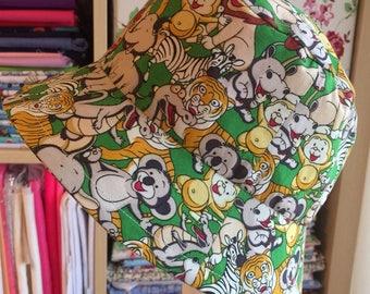Handmade Boys Reversible Bucket Sun Hat 100% Cotton