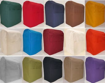Canvas KitchenAid Stand Mixer Cover w/2 Pockets (15 Colors Available)