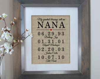 Mothers Day Gift for Grandma, Gifts for Grandma, Grandma Gift, Grandma Gifts, Grandma Gift, Personalized, Nana Gift from Kids, Gift for Mom