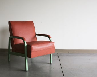 Sold *** Norman Bel Geddes Simmons Oversized Vintage Industrial Armchair