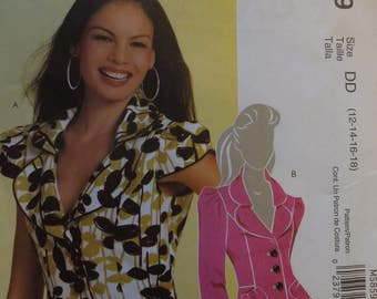 McCalls M5859, sizes 12-18, Misses, petite, lined jackets, UNCUT sewing pattern, craft supplies,
