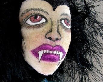 Vampire Art Doll-Vampirena-OOAK-Female Vampire Doll (Made to Order)