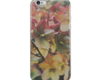 Pastel Flowers Photo Case for Apple iPhone, Nature Photo Case for iPhone 6, 7, 8, X, iPhone Case for 6+, 7+, 8+, PNW Garden Phone Case