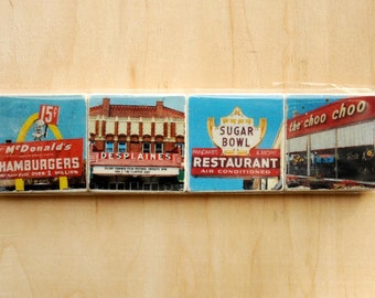 Des Plaines Magnet Series - Set of 4 - Two inch Magnets