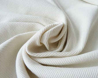 20% off - Birch Organic Cream Ribbed Knit | RKS-CREAM | By the yard