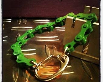 Green bicycle chain bracelet and other colors