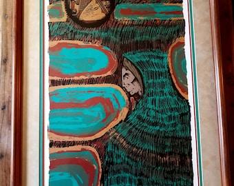 Amado Pena Screenprint, Amado Pena Artist, Native American Art, Southwestern Art, Amado Pena