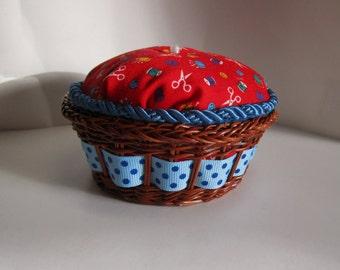 Little Pie Pin Cushions, Handmade