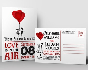 Love is in the Air: Save the Date Postcard