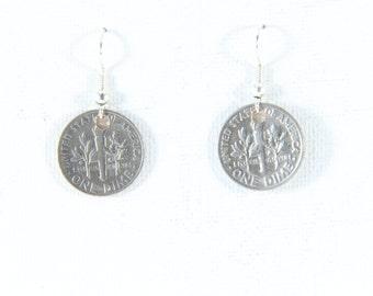 Orecchini a moneta USA 1987.