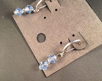 Light sapphire earings 003