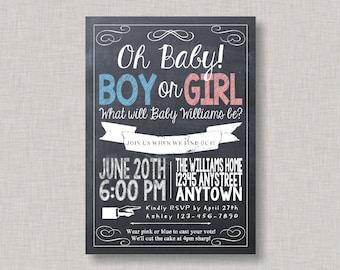 Chalkboard Gender Reveal,Chalkboard Gender Reveal Invitation,Gender Reveal Invitation,Gender Reveal Party,Gender Reveal Invite,Chalkboard