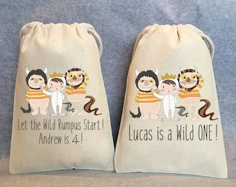 """6- Where the Wild Things are, Where the Wild Things are party, Where the Wild Things are birthday,Where the Wild Things are favor bag,5""""x8"""""""