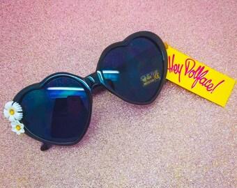 Lolita style heart sunglasses - Vintage Flower Sunnies
