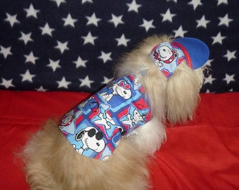 His or Her -4th of July Spring Summer HARNESS VEST - Chose cute fabric - 2 to 15 lb dogs- made to order