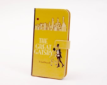 Book phone /iPhone flip Wallet case-The Great Gatsby for  iPhone X, 8, 7, 6, 5, 6 7 & 8 plus, Samsung Galaxy S9 S8 S7 S6 Note 4, 5, 7, 8 LG