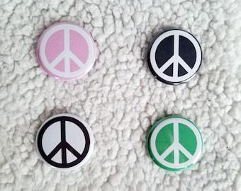 """1.25"""" Peace Symbol Pin Badges - Peace Symbol Pins - Peace Symbol Pinback Buttons - Peace Symbol Badges"""