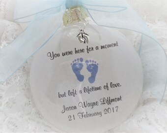 In Memory Ornament, You Were Here For A Moment, Free Personalization and Charm