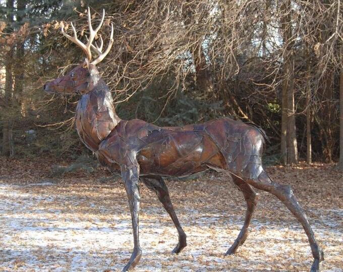 Made to Order Outdoor Custom Metal Deer Sculpture By Jacob Novinger