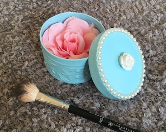 Rose Highlighter in Hand Crafted Box / Illunminating Powder / Mothers Day Gift / Wedding Gift / Bridesmade Gift