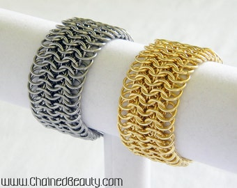Steel and Brass European Chainmaille Bracelets
