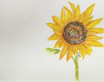 Disposable paper placemats Sunflower