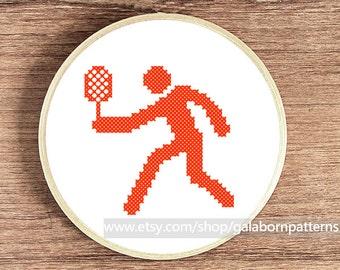 Tennis - PDF counted cross stitch pattern - Sport - Easy cross stitch