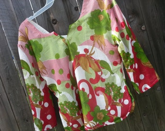 Christmas Women's Handmade Elegant Lined Sari Silk Blouse Shirt - 3/4 Sleeves Summer - Matching Mother Daughter - Maria H815