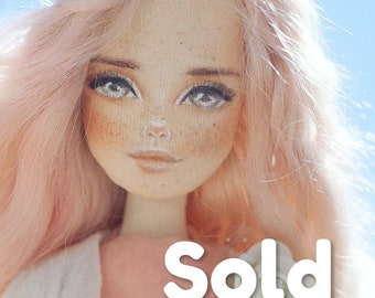 Ooak doll, handmade doll, beautiful doll, art doll, portrait doll, textile doll, home decor, interior doll, collecting doll