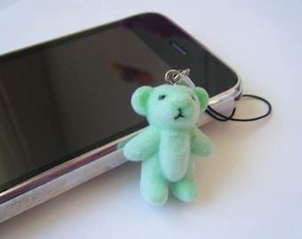 Jewel of portable bear green ♥ ♥