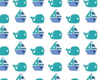 Nursery Seawater Friends Sailing Fabric From Springs Creative