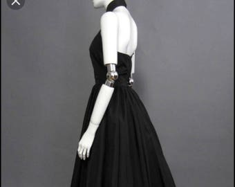 Vintage Victor Costa Fifth Avenue halter dress gown