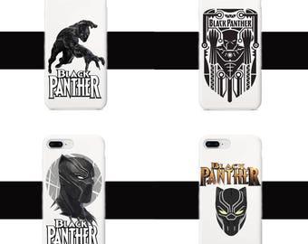 Black panther phone case, Black panther iPhone 5/S/SE, iPhone 6 6s, iPhone 6 6S Plus, iPhone 7 8, iPhone 7 8 Plus, iPhone X