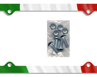 Italian Flag License Plate Frame Gifts Girls Ladies Men Plate Holder Flags Italian Italy Flag