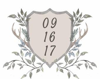 Custom Crest or Logo Wedding Invitation! digital file
