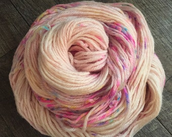 Cupcake, DK weight, Superwash BFL, 100% English Bluefaced Leicester, 4 ply, hand dyed