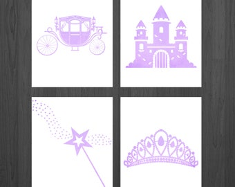 Princess Nursery - Princess Prints - Princess Art - Princess Decor - Princess Party - Girls Room - Nursery Decor - Baby Girl - Baby Shower
