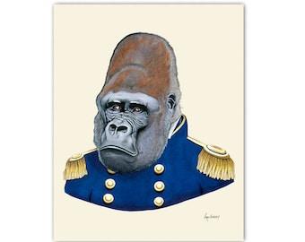 Gorilla - Safari Nursery - art print 5x7