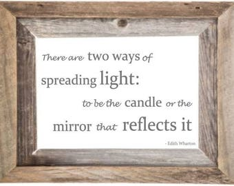 Custom Personalized Mirror, Large Mirror, Personalized Barn wood Mirror, Custom Engraved Mirror, Etched Mirror, Custom 5x7 Mirror barnwood