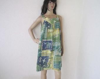 Vintage 80s ethno dress dress cotton oversize
