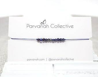 Iolite Friendship Bracelet | Intention Stacking Bracelet | Simple Layering Jewelry