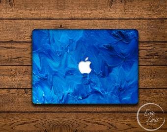 Oil painting Macbook Decal / Blue Macbook sticker / Laptop sticker / Laptop Decal / Macbook air sticker / Stickers Macbook pro / EL025