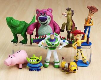 CAKE TOPPER - 9 pcs Toy Story 9 Figure Set Custom Wedding Birthday Party Decor DIY Cupcakes Figurines