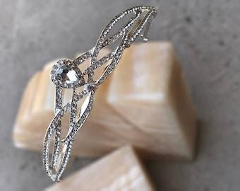 KAREN Tiara, Swarovski Luxury Hair Accessories, Rhinestone Crown, Tiara, Vintage, Pageant Crown, Crystal wedding crown, queen, pear cut