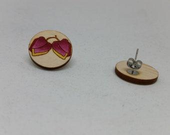 SMALL Boronia - Flower Stud Earrings-Keys Boronia Flower Earring Studs-Australian Flower Earrings-Pink Flower Studs-Floral Stud Earrings