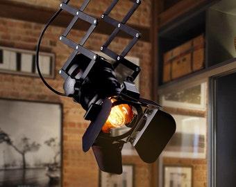 Spotlight Pendant Light Fixture Searchlight Industrial Chandelier Floodlight Vintage Pendant lighting Projector Modern lighting