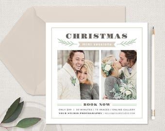 Christmas Mini Session Template - Christmas Marketing Board, Christmas Marketing, Holiday Mini Session Template, Holiday Marketing Board