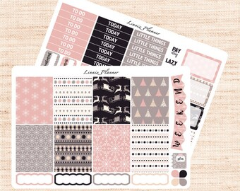 Soft Winter Little Weekly Kit (matte planner sticker, fits perfect in Erin Condren Life Planner Vertical)